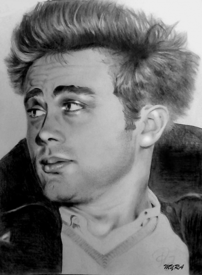 James Dean by myra